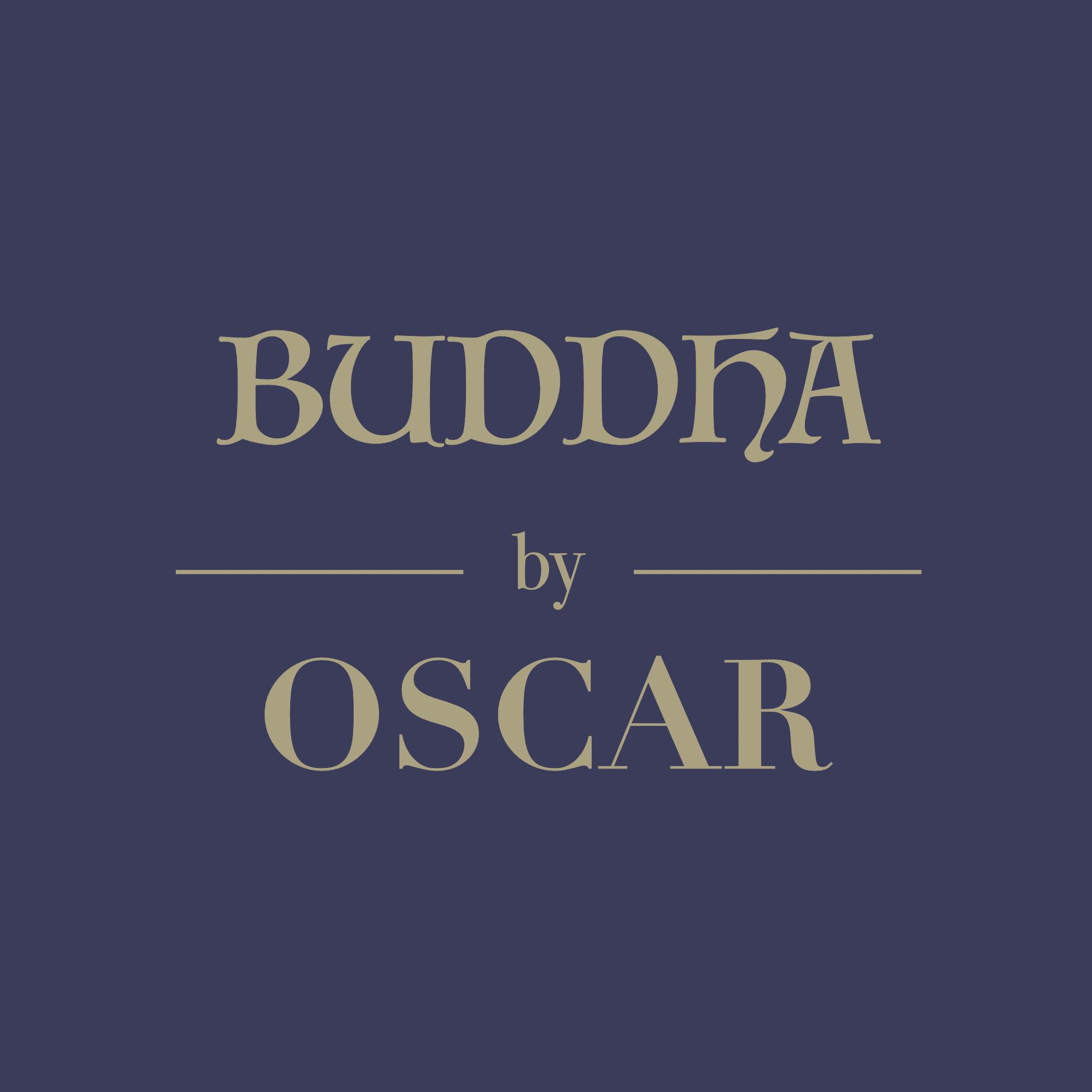 BUDDHA by OSCAR Logo mit Lila Hintergrund