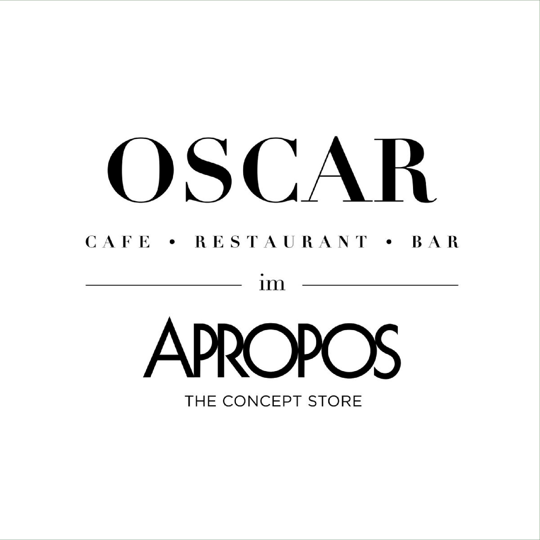 OSCAR im APROPOS Logo schwarzweiss
