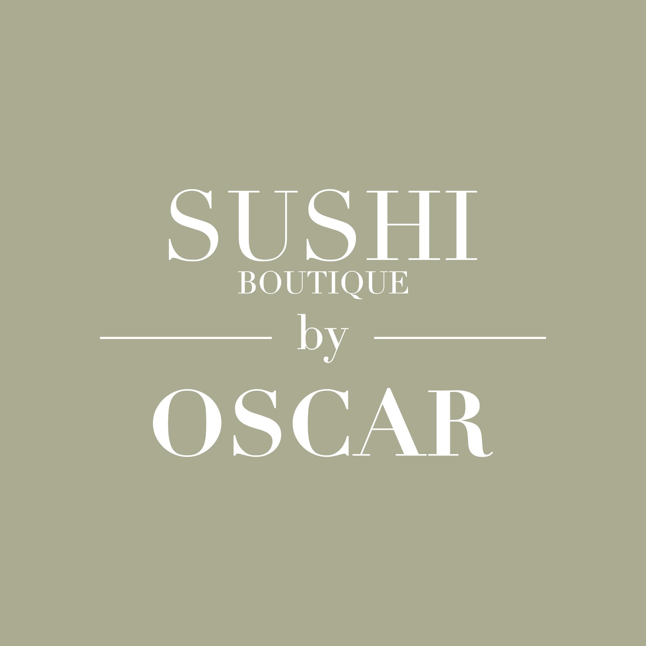 SUSHI BOUTIQUE by OSCAR Logo mit gruenem Hintergrund